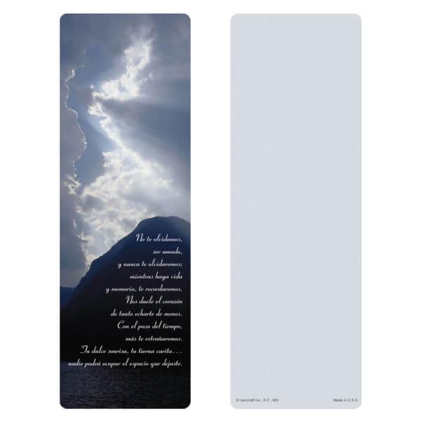 """3"""" x 9"""" Clouds & Sea Bookmark, No Estas Olvidado"""