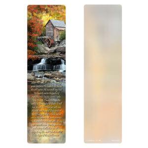 "3"" x 11"" Autumn Mill, 23rd Psalm"