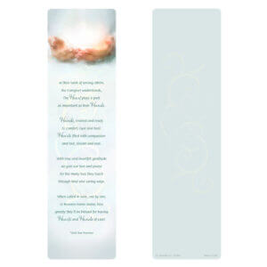 Caregiver's Hands Light Large Bookmark