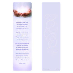 Caaregiver's Hands Dark Large Bookmark