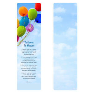 Balloons Large Bookmark