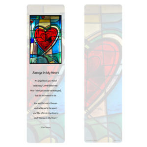 Stained Glass Heart Large Bookmark