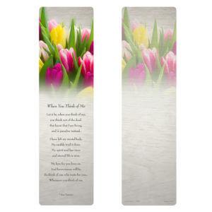 Tulips Large Bookmark
