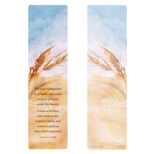 Wheat Painting Large Bookmark, Ecclesiastes