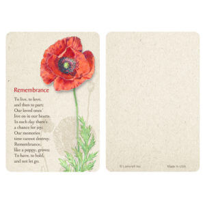 Red Poppy Pocket PMC, Remembrance