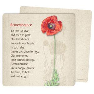 Red Poppy Mini-Album PMC, Remembrance