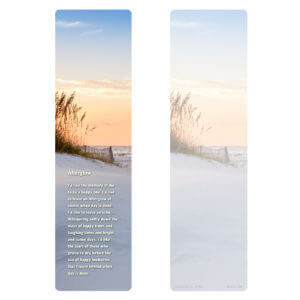"3"" x 11"" Sandy Beach Large Bookmark, Afterglow"
