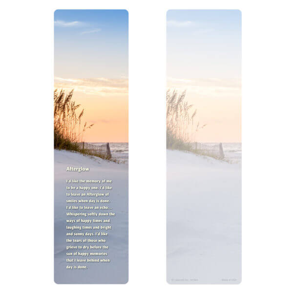 """3"""" x 11"""" Sandy Beach Large Bookmark, Afterglow"""