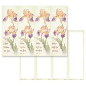Dutch Iris 4-up Micro-Perf, Peaceful Memories