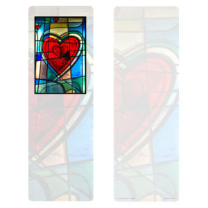 Stained Glass Heart PMC Bookmark, No Verse