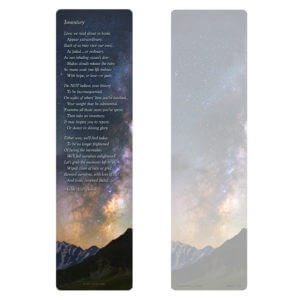 Milky Way Large Bookmark PMC, Inventory