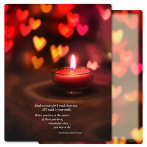 Heart Candle Letter-size PMC