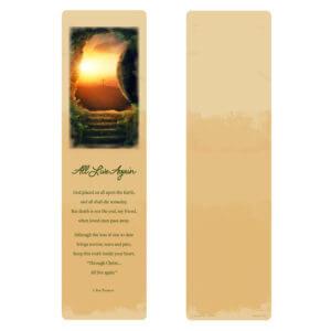 Calvary Large Bookmark, All Live Again